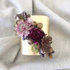 flower corsage stunning gold cuff flower corsages by passionflower mon cheri