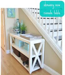 rustic x console table diy guide to building rustic x console table the home touches