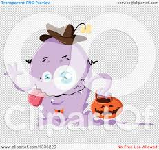 halloween monsters background clipart of a cartoon purple halloween monster royalty free