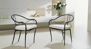 chaises en fer forgé mobilier de jardin chaise siège banc banquette en fer forgé