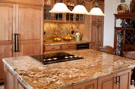 golden crystal granite island traditional kitchen san diego