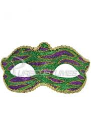 green mardi gras mardi gras animal print child mask green purecostumes