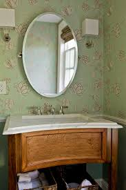 Vintage Bathroom Accessories by Vintage Bathroom With Oval Powder Room Mirror And Light Brown
