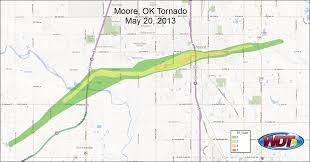 Oklahoma Weather Map Ef Scale Map Of Moore Ok Tornado