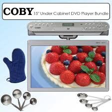 Kitchen Cabinet Radio Cd Player by Coby Ktfdvd1560 15 Inch Widescreen Tft Under The Cabinet Dvd Cd