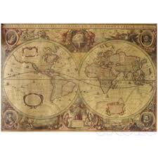 71x50cm vintage globe old world map matte brown paper poster home