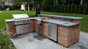 appliance outdoor kitchen brick best outdoor kitchens ideas