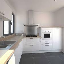 cuisine laquee cuisine laquee blanche plan de travail gris 2 la cuisine blanche