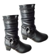 ebay womens boots size 12 womens black zip up mid calf boots sizes 9 10 11