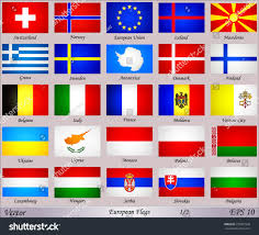 Flags Of European Countries Flags Europe Names Countries Stock Vector 232857958 Shutterstock
