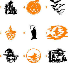 halloween crafts decal decals stickers sticker haunted witch 968