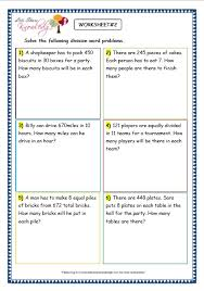 grade 3 maths worksheets division 6 9 division word problems