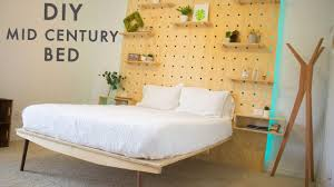 Diy Platform Bed With Headboard by Diy Mid Century Modern Platform Bed With Light Up Headboard