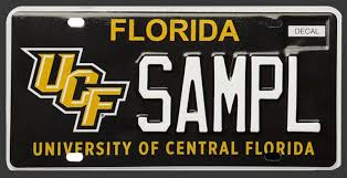 Custom Vanity Plate Order Your Florida Custom License Plates Ucf Knight Your Ride