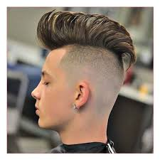 mens hairstyles long on top shaved sides together with guy with