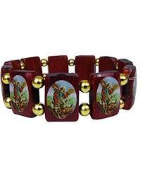 catholic bracelet elasticated wooden michael stretchable bracelet catholic