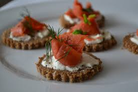 rye bread canapes comfort bites posh canapés smoked salmon horseradish and
