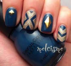 instagram navy and orange nail art google search auburn nail