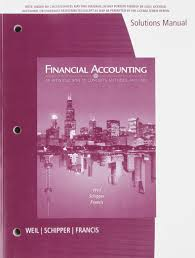 financial accounting solutions roman l weil author katherine