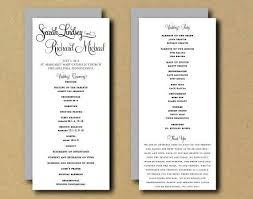 best wedding programs inspirational wedding programs diy fototails me