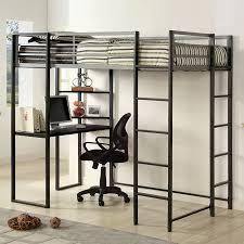 Study Bunk Bed Shop Furniture Of America Sherman Silver Gun Metal Study Loft