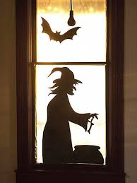 Halloween Window Lights Decorations - decorate your windows with spooky silhouettes just cut out some