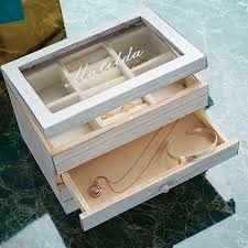 personalized wooden jewelry box personalised wooden jewellery box with drawer quidco discover