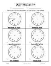 esl kids worksheets telling time worksheets