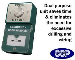 break glass door release dual press to exit button and emergency door release break glass