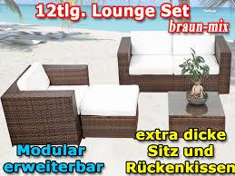 m bel balkon modulares 12tlg gartenmöbel rattan lounge möbel balkon sitzgruppe