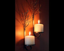 Metal Wall Sconces Candle Wall Sconces Etsy