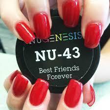 best shade of red nugenesis nails dip powder best friends forever nu 43