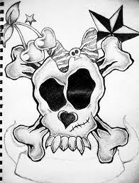 girly skull by xxdevotchkaxx on deviantart