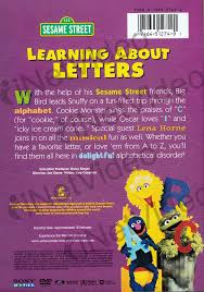 learning about letters sesame on dvd