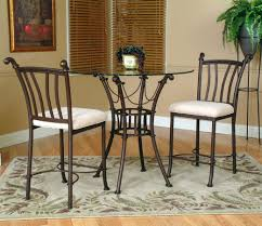 glass counter height table sets cramco inc denali 3 piece counter height glass table and chair