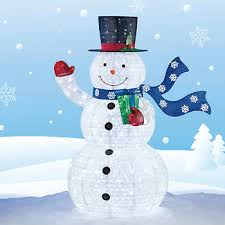 Outdoor Lighted Snowman Outdoor Decorations Costco