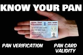 pan card know your pan check pan card validity and pan verification