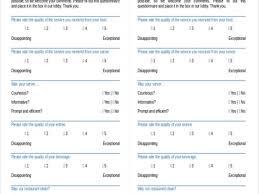 customer satisfaction survey template sample restaurant survey