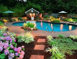 Backyard Makeovers Ideas Backyard Landscapes With Pools Backyard Designs With A Pool