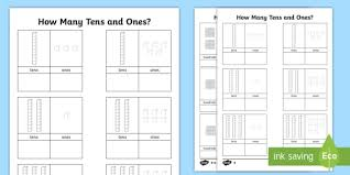 tens and ones worksheet count counting aid numeracy maths