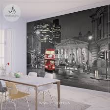 wall murals peel and stick vinyl self adhesive tagged london in black and red wall mural london city photo mural london wall decor