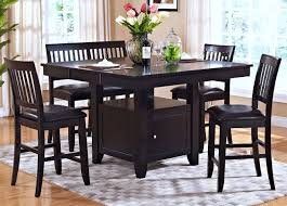 Espresso Dining Room Furniture Kaylee Espresso Counter Height Storage Dining Room Set From New