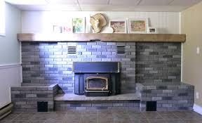 brick fireplace paint binhminh decoration