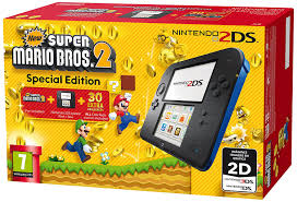 2ds black friday nintendo handheld console 2ds black blue with new super mario