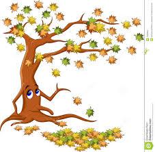 autumn tree cartoon stock illustration image 44825267