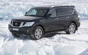 Nissan Patrol Nissan Patrol Patrol Jeep Suv Front Snow Background