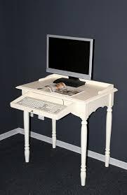 Schreibtisch Pc Landhaus Pc Tisch Schreibtisch Massiv Holz Cremeweiß Lackiert
