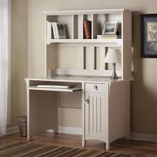 white computer desk with file drawer wooden cabinet minimalist