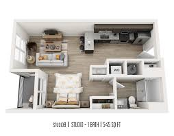 450 Sq Ft Studio by One305 Central Floor Plan