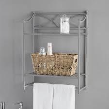 Bathroom Wall Baskets Chapter Lexington Park Bathroom Wall Shelf Satin Nickel Walmart Com